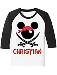 Custom Pirate Night Mickey Disney Cruise Tee - With Personalization Option