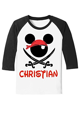 Pirate Mickey Disney Cruise - Pirate Night Tee - with Personalization Option (Youth X-Small, ()