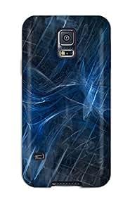 Unique Design Galaxy S5 Durable Tpu Case Cover Blue Waves