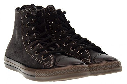 Grigio Hi sneaker alta scamosciata Ctas Converse nero pelle uomo Distressed qB8nTOE