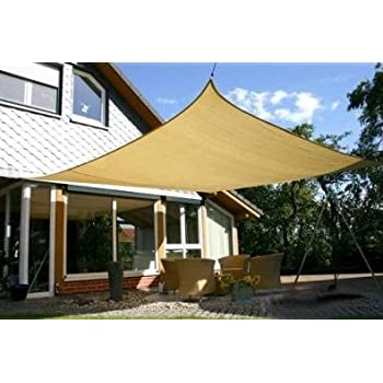 MTN OutdoorGear 20u0027x16u0027 Deluxe Square Retangle Sun Sail Shade Canopy Top - Beige  sc 1 st  Amazon.com & Amazon.com : Heavy Duty Sun Sail Shade - Large 18u0027x18u0027 Square ...