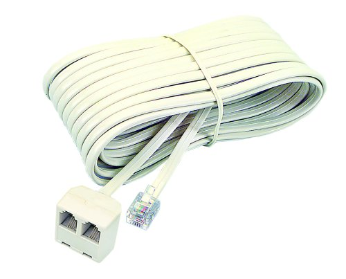 Almond Phone Cord - Softalk 04130 Corded Duplex Jack 25-Feet Almond Landline Telephone Accessory