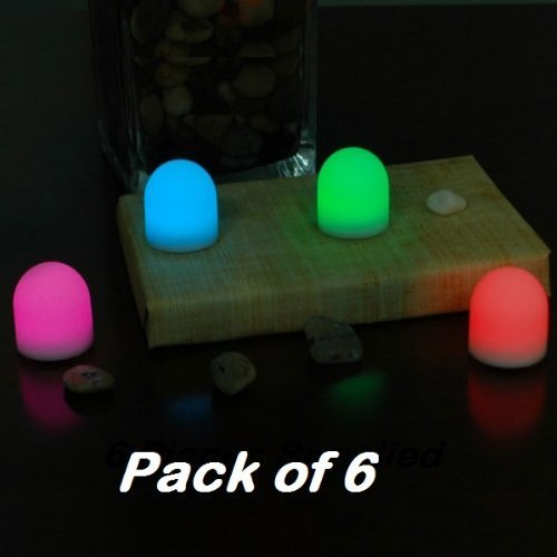 PACK OF 6 LED Dome shaped Colour changing Mood Lights Lamps - Playlearn by Playlearn