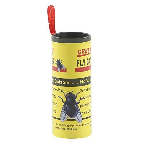Insect Bug Fly Catcher Trap Sticky Paper Strip No-Toxic Fly Ribbon Eco-Friendly Fly Bait Sticky Paper Rolls 4 Pcs