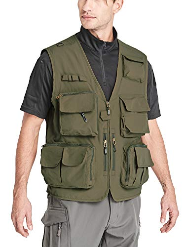 MAGCOMSEN Journalist Vest Men Fishing Vest for Men Work Vest Photo Vest Hunting Vest Tactical Vest Utility Vest Summer Vest Travel Vest