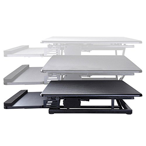 Koval Inc. Height Adjustable Electric Motorized Computer Sit-to-Stand Desk (Black) by KOVAL INC. (Image #3)