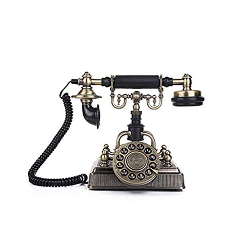 (DIANH UK Telephone- Home Retro Telephone, Button Dial Metal Landline, Wiring Redial Phone Welcome)
