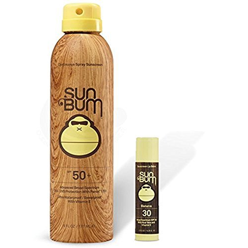 Sun Bum SPF 50 Spray Sunscreen + Banana Lip Balm