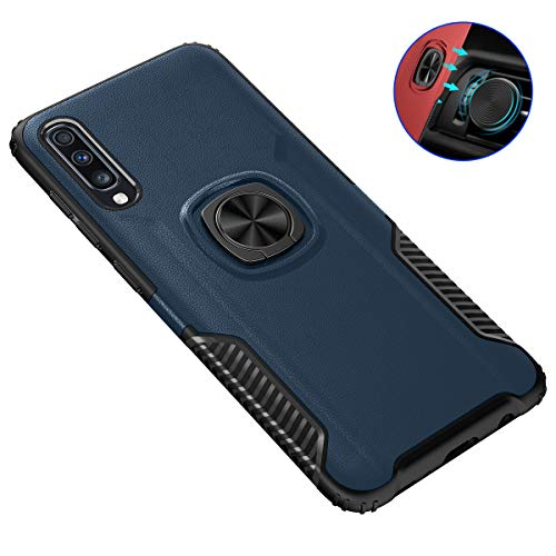 Galaxy A70 Case, Futanwei Military-Grade Drop Armor Heavy Duty Shockproof Non-Slip Bumper Protective Case with Rotating Ring Holder [Magnetic Car Mount] for Samsung Galaxy A70 Phone, ()
