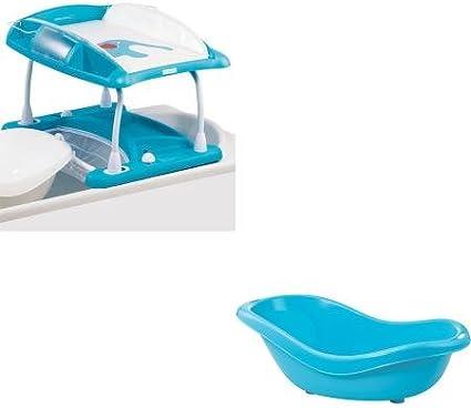 Bebe Confort Duo Bain Et Table A Langer Amplitude Baignoire Offerte Bb Doux Blue Amazon Fr Bebes Puericulture