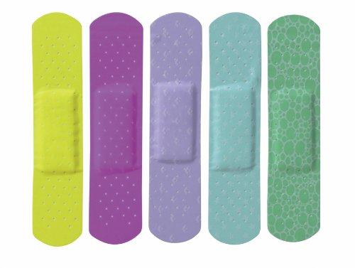 Curad NON256131 Neon Adhesive Bandages, 3/4'' x 3'', Natural (Pack of 1200)