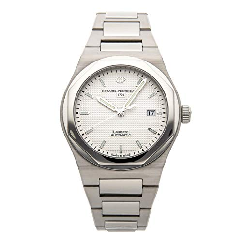 Girard-Perregaux Laureato Mechanical (Automatic) White Dial Mens Watch 81000-11-131-11A (Certified Pre-Owned)