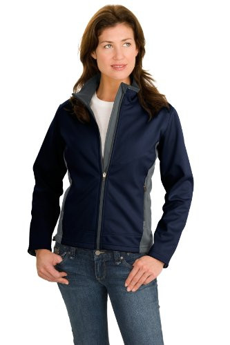 Port Authority Women's Two Tone Soft Shell Jacket XXL Navy/Graphite (Tone Two Shell)