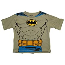 DC Comics Batman Embroidered Logo Muscle Chest Costume Toddler T-Shirt Tee