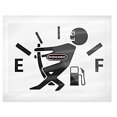 WINOMO Funny Car Stickers High Gas Consumption Decal Fuel Gage Empty Stickers (Black): Automotive