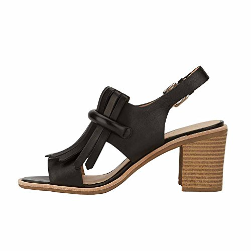 G.H. Bass & Co. Women's Reagan Dress Sandal Black Leather 6R3Xw