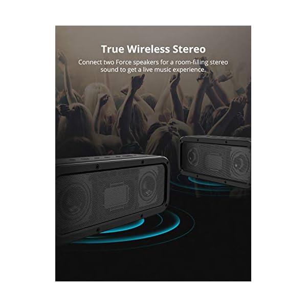Haut-Parleur Bluetooth Enceinte sans Fil 40W, Tronsmart Force Speaker Waterproof Portable, étanche IPX7, Autonomie 15H, Technologie NFC & TWS,Compatibilité Android, Smartphone,Ordinateur 5