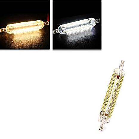 Global R7s LED bombilla de 15w 118mm smd 3014 228 lámpara blanca cálida luz del maíz/blanco puro 220v-240v: Amazon.es: Iluminación
