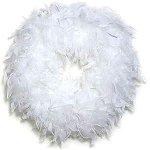 Feather Wreath White 3