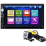 7 Inch Car DVD Player with Rear View Bluetooth V2.0 Car Audio Car DVD MP5 Player Machine 7010B
