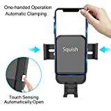 Squish Wireless Car Charger, Auto-Clamping Qi Fast Wireless Charger Phone Holder for Car Dashboard Windshield for iPhone Xs Max/XS/XR/X/8Plus/8,Samsung S9/S9+/S8/S8+/Note9/Note8 & Other Smartphone