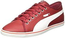 26bce628366f Puma Unisex s Elsu V2 Sl Tibetan Red-Puma White Sneakers - 11 UK India