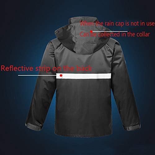 LLHYTT Imperméable imperméable Costume, Adulte Split équitation Anti-tempête Pluie Poncho extérieur épais Coupe-Vent Respirant imperméable imperméable Pantalon de Pluie Yuyi