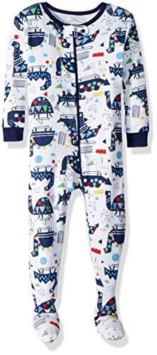 Lamaze Organic Baby Baby Boys Organic Longsleeve Stretchie Pajamas, White, 24M (Cotton Clothing Childrens Organic)