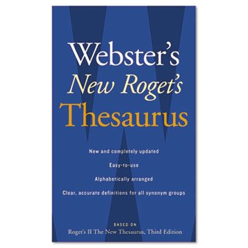6 Pack Webster's New Roget's Thesaurus Office Edition, Paperback, 544 Pages by HOUGHTON MIFFLIN COMPANY (Catalog Category: Forms, Record Keeping & Reference / Books / Reference)