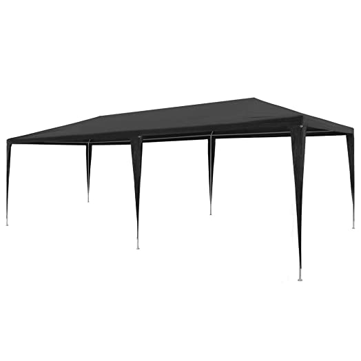 Festnight 10 x 20 Garden Outdoor Gazebo Canopy Pop Up Sun Steel Frame Shade Heavy Duty Patio Party Wedding Tent BBQ Camping Shelter Waterproof Pavilion Cater Events Black