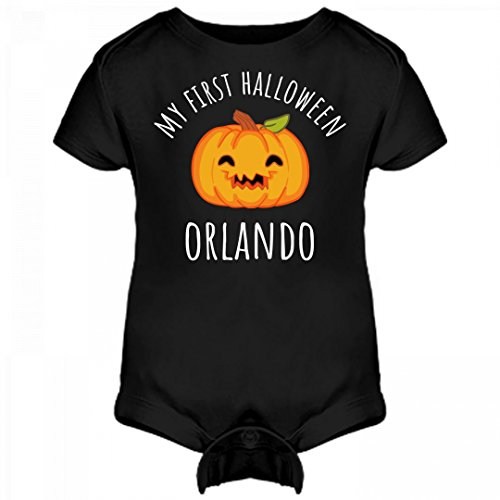 FUNNYSHIRTS.ORG My First Halloween Orlando: Infant Rabbit Skins Lap Shoulder Creeper