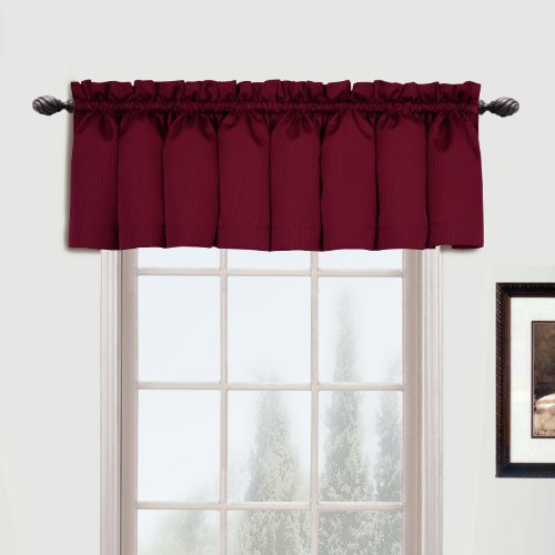 - United Curtain Metro Woven Straight Valance, 54 by 16-Inch, Burgundy