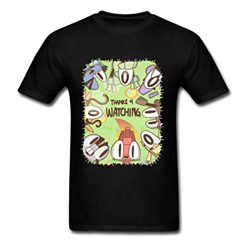 Mixels Thanks 4 Watching AneSwing Athletic Black Men T Shirt Medium ()