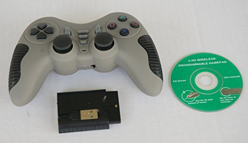 Buddies 2.4 Ghz Wireless Gamepad Game Controller For PC/PS1/PS2/PS3, Model STK-WA2021PUP Grey ()