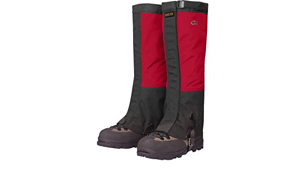 Outdoor Research MENS CROCODILE GAITERS CHILI/BLACK (LARGE GORE-TEX): Amazon.es: Deportes y aire libre