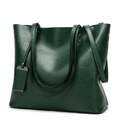 Women Shoulder Bags Zipper Handbags for Women Top Handle Bag Tote Bags by YUNS (Green)