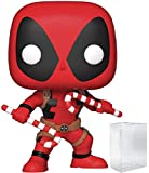 Funko Pop! Marvel: Holiday - Deadpool with Candy Canes Vinyl Figure (Includes Pop Box Protector Case)