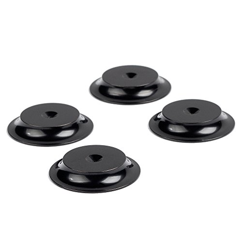 Sonic Saucers - Isolation Discs - Set of 4 - Black by AUDIO ADVISOR