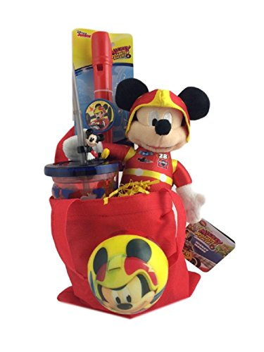 Mickey Mouse Roadster Themed Kids Birthday Gift Set Holiday Care Package (Disney Gift Baskets)