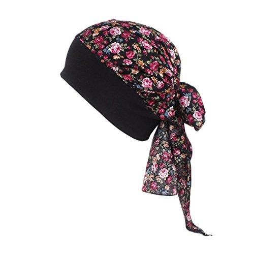 Womens Bandana Headband Chemo Hat Beanie, Turban Chemotherapy Cap For Cancer (F)