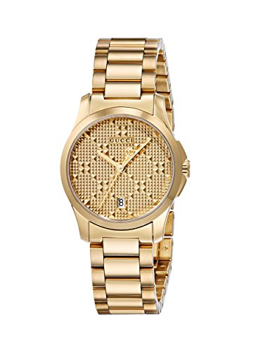 Gucci Women's Swiss Quartz and Stainless-Steel Dress Watch, Color:Gold-Toned (Model: YA126553)