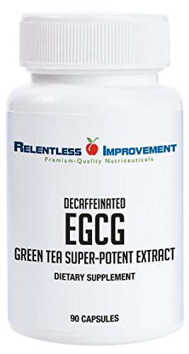 Relentless Improvement EGCG Green Tea Extract NO FILLERS 670mg EXTRACT PER Capsule Standardized to 98%+ Polyphenols 60%+ EgCG | Very Low Caffeine | NO STOMACH UPSET Review