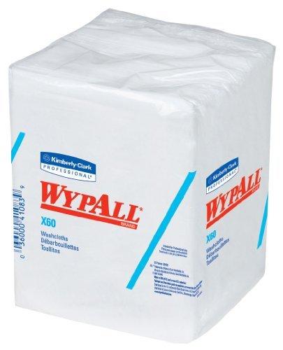 Kimberly-Clark WypAll 41083 X60 Hygienic Washcloth, 1/4 Fold, x 10 Width x 12.5 Length, White (8 Packs of 70) NewBorn, Kid, Child, Childern, Infant, Baby by We-Love-Babies