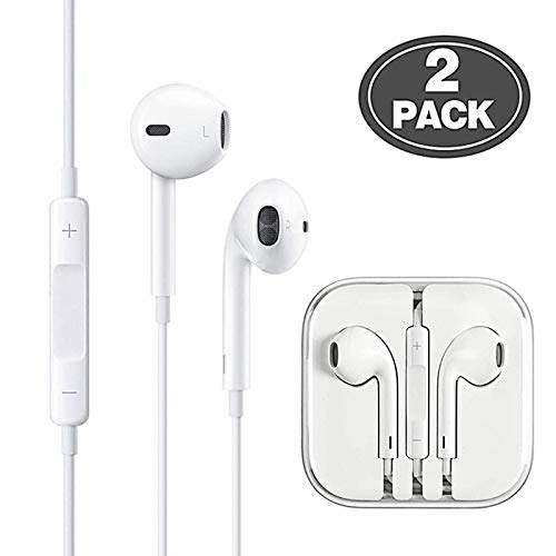 Headphones/Earphones/Earbuds 3.5mm Wired Headphones Noise Isolating Earphones with Built-in Microphone & Volume Control Compatible with iPhone 6 SE 5S 4 iPod Samsung/Android Most Smartphones