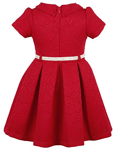 Lilax Little Girls Flocked Occasion Dress With Shimmer