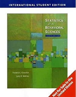 Statistics for the behavioral sciences frederick gravetter larry statistics for the behavioral sciences by frederick j gravetter 2009 01 09 fandeluxe Image collections