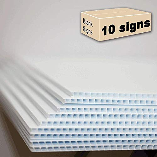 10 Blank Signs White 18