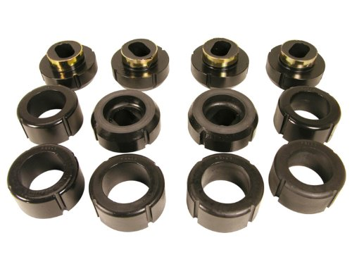 Prothane 7-108-BL Black Body and Standard Cab Mount Bushing Kit - 12 Piece