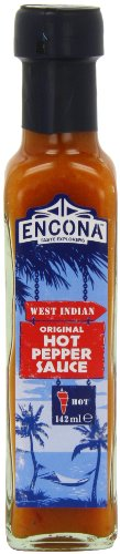 Encona West Indian Original Hot Pepper Sauce 142 ml (Pack of 6) by Encona