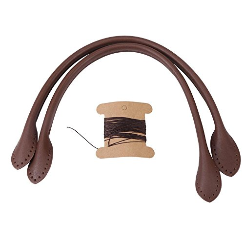 Leather Purse Handles, Genuine Leather Bag Straps For DIY Hand Accessories With Thread, Black, Brown, Beige Optional(Brown)